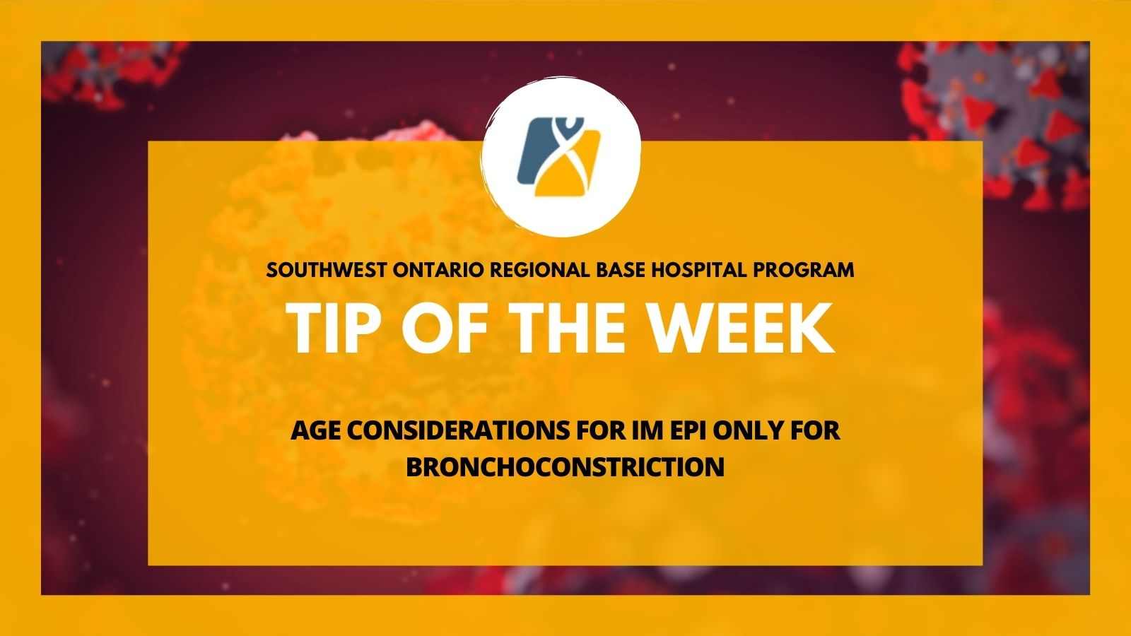 TOTW: Age Considerations for IM Epi Only for Bronchoconstriction